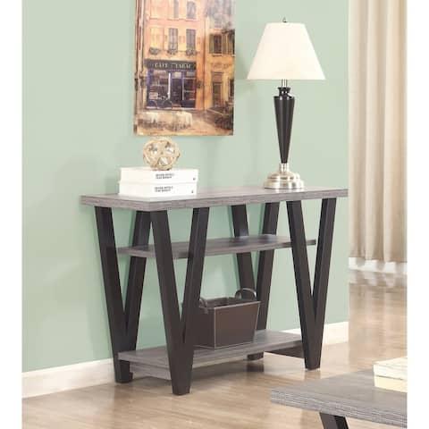 Olea Antique Grey and Black Rectangle Sofa Table