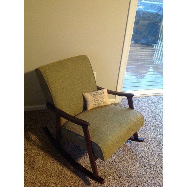shop carson carrington mid century green wooden rocking chair free