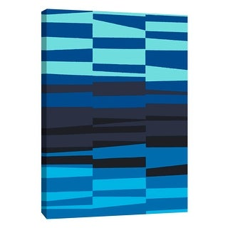 """PTM Images 9-108754  PTM Canvas Collection 10"""" x 8"""" - """"Monochrome Patterns 7 in Blue"""" Giclee Abstract Art Print on Canvas"""