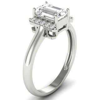 Link to 1.10 CT Emerald & Round Diamond Engagement Ring 1.00 Ct Center in 14KT Similar Items in Wedding Rings