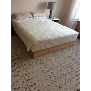 nuLOOM Geometric Moroccan Trellis Fancy Grey Area Rug (8' x 10')