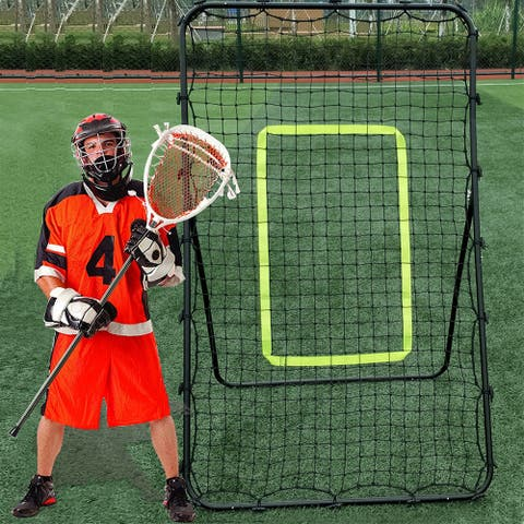 NewAge Pitch Back Rebound Net Baseball Softball Lacrosse Rebounder Practice Return Net