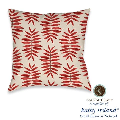 Laural Home kathy ireland® Small Business Network Member Palm Fern Decorative Pillow