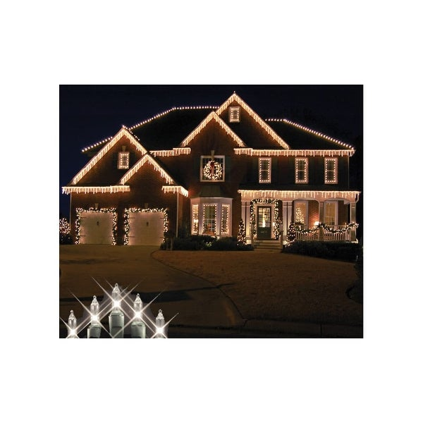 Christmas at Winterland WL-IC100-CL 100 Light Incandescent Clear Icicle String Indoor / Outdoor - N/A
