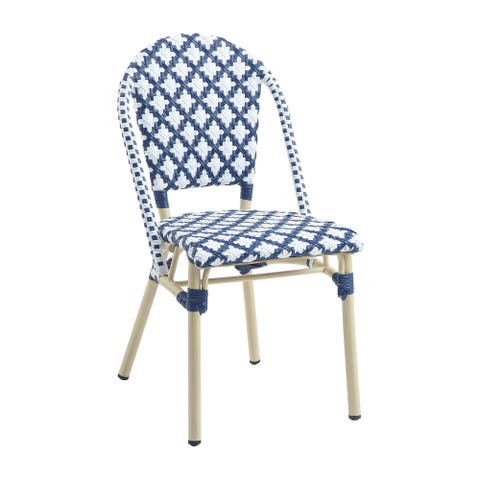 Furniture of America Portia Wicker Outdoor Bistro Chairs (Set of 2)