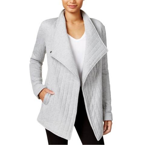 Rachel Roy Womens Asymmetrical Jacket, grey, X-Small