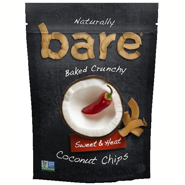 Bare Fruit All Natural Crunchy Coconut Chips Sweet 'N Heat - Case of 12 - 40 Gram