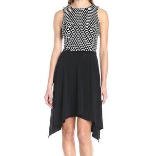 Karen Kane NEW Black Women Size Small S Contrast Asymmetrical Hem Dress