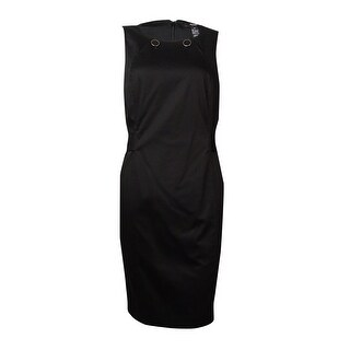 Alfani Women's Aqua Di Parma Button Detail Cotton Dress