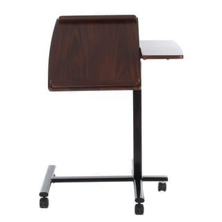 VECELO Adjustable Mobile Computer Desk Cart with Tilt Desktop