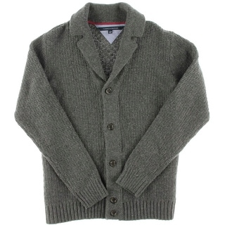 Tommy Hilfiger Mens Wool Blend Shawl Collar Cardigan Sweater