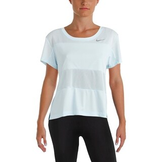 Nike Womens Pullover Top Mesh Inset Fitness - L