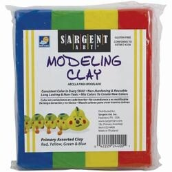 Blue; Green; Yellow & Red - Non-Hardening Modeling Clay 1/4Lb Sticks 4/Pkg