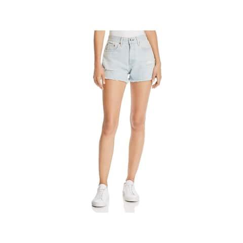 Rag & Bone Womens Justine Denim Shorts Destroyed Cutoff