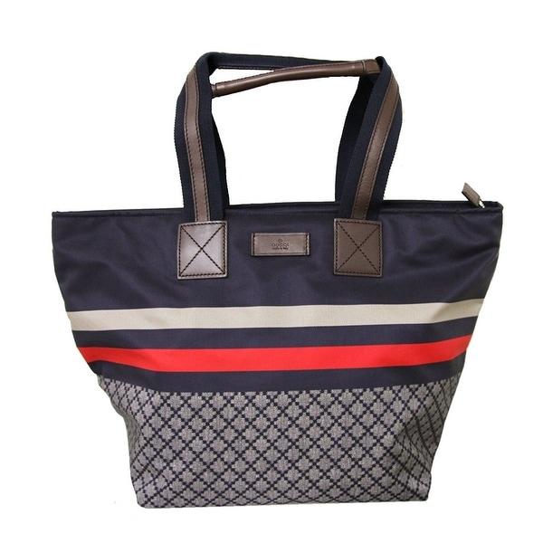 0a3c1c1bba28f7 Gucci Unisex Blue Nylon Diamante Travel Tote Handbag 267922 8611 - Medium