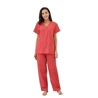 Richie House Women's V-neck Medical Set with Cargo Pants