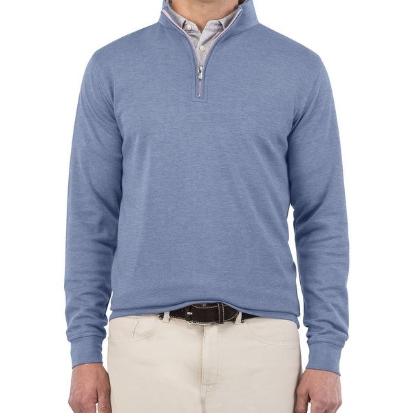 37304e1df0 Shop Peter Millar NEW Blue Mens Size Large L 1 2 Zip Crown Comfort Sweater  - Free Shipping Today - Overstock - 21352639