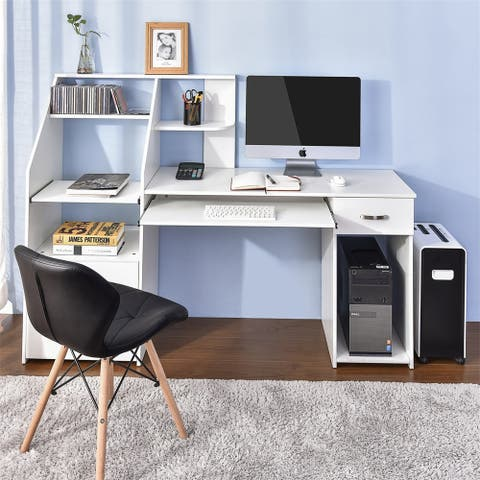 Multi-Functions Computer Desk with Cabinet