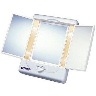 Conair Tm7lx Reflections Two-Sided Lighted Makeup Mirror, White