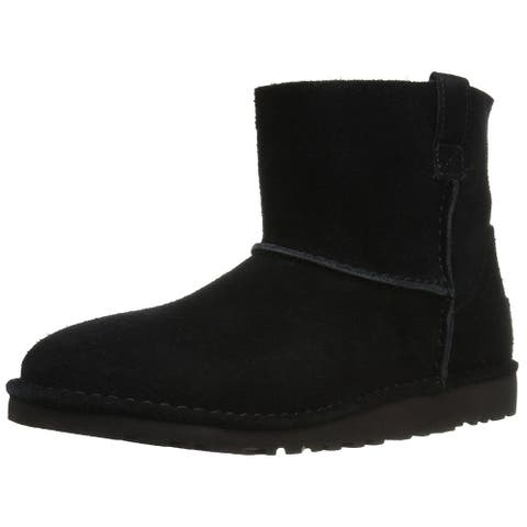 Ugg Womens Classic Suede Closed Toe Mid-Calf Fashion Boots