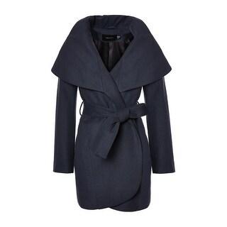 T. Tahari Marla Oversized Shawl Collar Coat