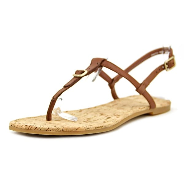 Cole Haan Britt Women Open-Toe Leather Brown Slingback Sandal