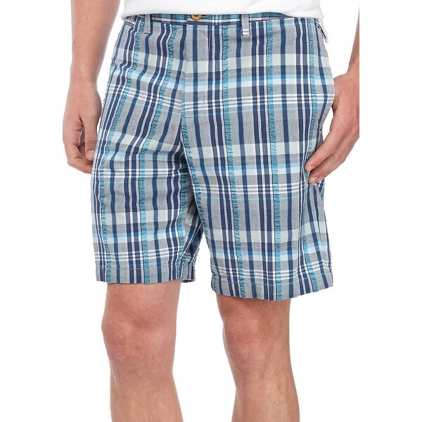 Dockers Mens Stretch Performance Plaid Print Cargo Shorts