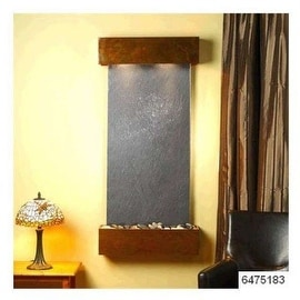 Adagio Cascade Springs With Black Featherstone in Rustic Copper Finish and Squar