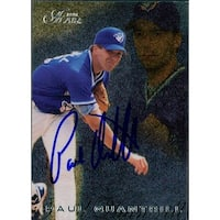 Signed Quantrill Paul Toronto Blue Jays 1996 Fleer Baseball Card autographed