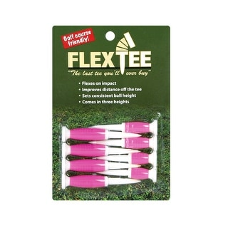 FlexTee Flexible Golf Tees (8 Pack), Florescent Pink (product packaging may vary)