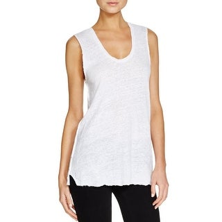Project Social T Womens Tank Top Linen Sheer