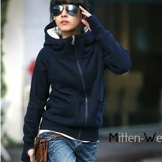 Autumn and winter with the Korean New Women's cashmere thickened Gao Tie cap finger sweater coat
