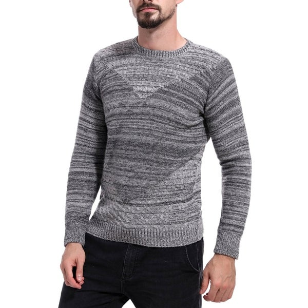f8a50e3119af Mens Sweaters Crew Neck Long Sleeve Slim Fit Knitted Pullover Casual Sweater