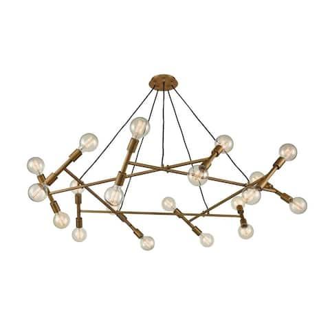 Sputnik Style Chandelier Light With Exposed Bulbs - Twenty Light