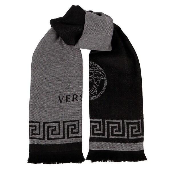 Versace IT00596 MARINE  100% Wool Greek Key  Ladies Shawl