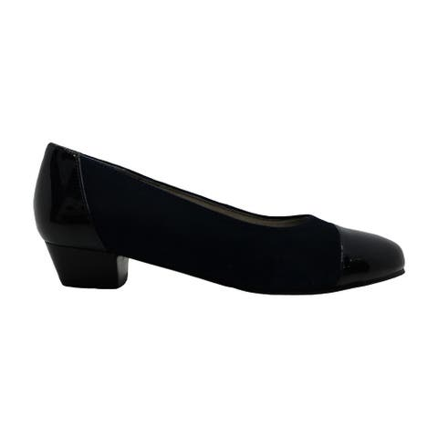 Auditions Womens Ella Leather Closed Toe Mary Jane Pumps