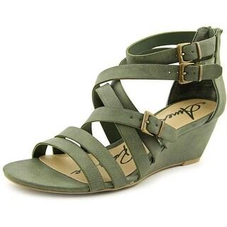 American Rag Carlin Women Open Toe Synthetic Green Wedge Sandal