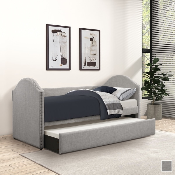 Olney Upholstered Daybed with Trundle. Opens flyout.