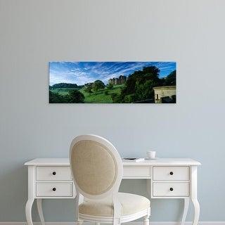 Easy Art Prints Panoramic Image 'Castle, Alnwick Castle, Northumberland, England, United Kingdom' Canvas Art