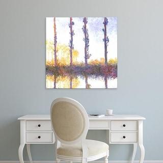 Easy Art Prints Claude Monet's 'Poplars' Premium Canvas Art