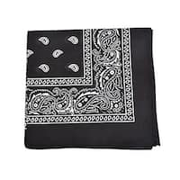 Pack of 3 Paisley 100% Cotton Double Sided Bandana - 22 inches