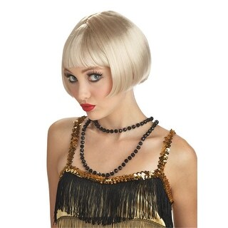 Adult Flirty Flapper Blonde Wig for Halloween Costume - standard - one size
