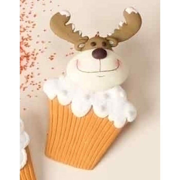 Sweet Memories Reindeer Cupcake Christmas Ornament