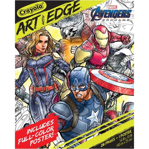 Art with Edge, Marvel Avengers Infinity Wars, 28 Coloring Pages + 1 Poster