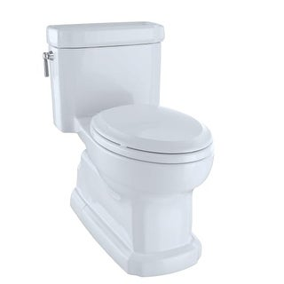 Toto MS974224CEFG Eco Guinevere One Piece Elongated 1.28 GPF Toilet with Double Cyclone Flush System and CeFiONtect - SoftClose