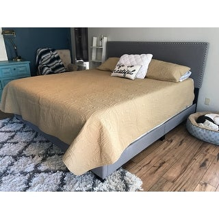 Olivia Grey Linen Upholstery Bed