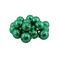 "24ct Green Shatterproof Sequin Finish Christmas Ball Ornaments 2.5"" (60mm)"