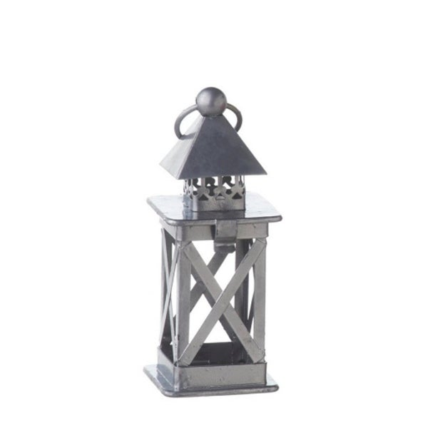 "6.25"" Alpine Chic Silver Lantern Christmas Ornament"