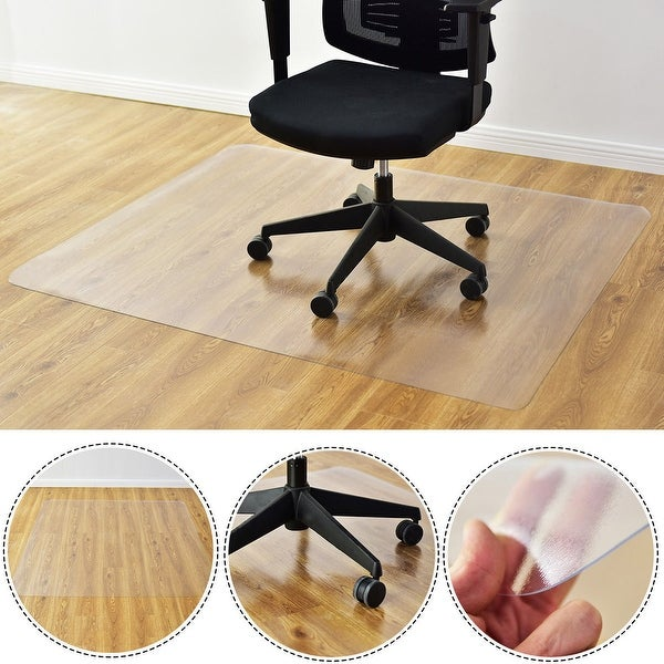 Shop Costway 47 X 59 Pvc Chair Floor Mat Home Office Protector