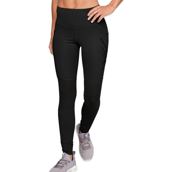Under Armour Womens Athletic Leggings Fitness Workout - Black. Opens flyout.